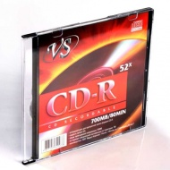 ДИСК CD-R VS 52X, 80, SLIM CASE /5/200/