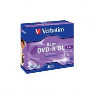 диск dvd{плюс}r dl verbatim 2.4x, 2.6gb, 8 см, jewel case /1/5/100//