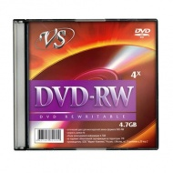 ДИСК DVD-RW VS 4X, 4,7 GB, SLIM /5/200/